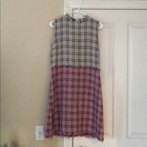 Authentic Gucci tweed dress with exposed zipper